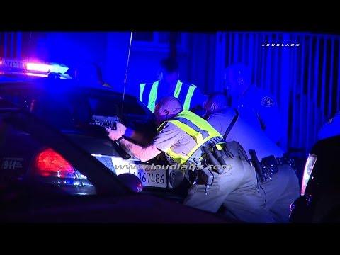 Shots Caught on Camera Deputies Shot / Bellflower  RAW FOOTAGE