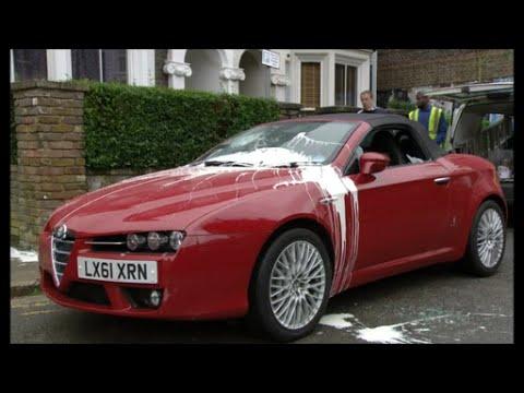 Mandy Salter Smashes Ian Beale's Car (EastEnders - 18/10/2011)