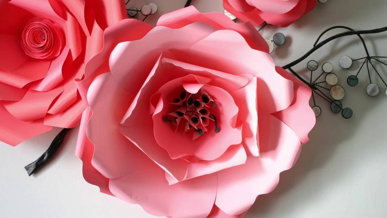 Paper flower tutorial diy template nr10 youtube pronofoot35fo Choice Image