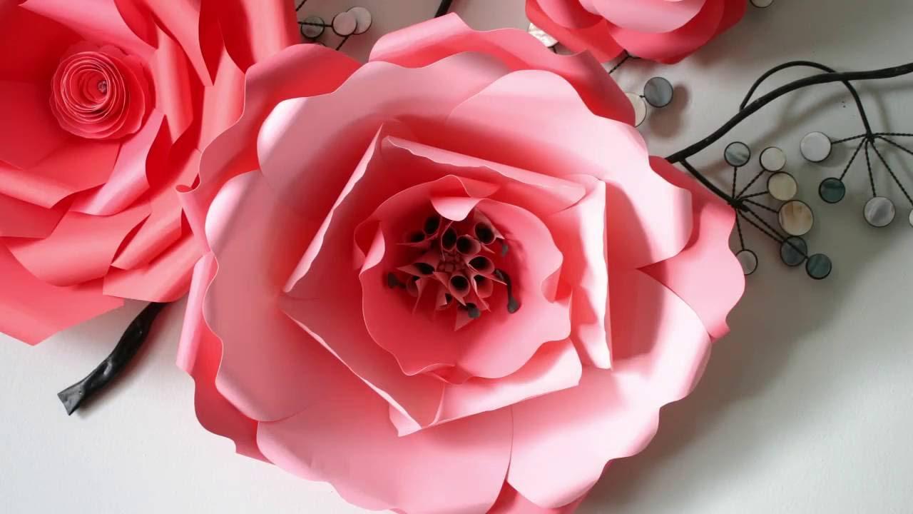 Paper flower tutorial diy template nr10 youtube maxwellsz