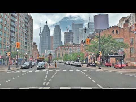 Driving Downtown - Toronto's Money Street 4K - Canada