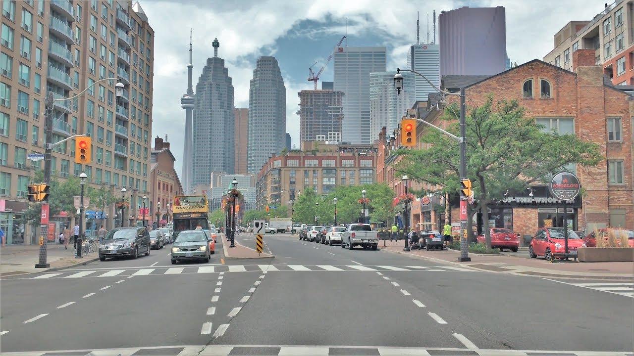 Driving Downtown - Toronto's Money Street 4K - Canada
