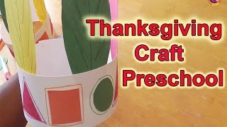 Preschool Learning - Thanksgiving Craft - LittleStoryBug