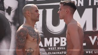 MARTIN J WARD v SERGIO BLANCO - OFFICIAL WEIGH IN VIDEO (FROM HULL) / RUMBLE ON THE HUMBER