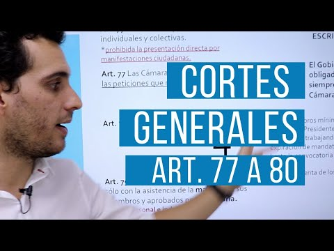 Cortes Generales. Explicación Artículos 77 a 80. Título III. Constitución 1978.