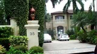 Palm Island and Star Island Florida drive through complete!!Birdman's Mansion Scott Storch Mansion