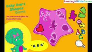 barney friends baby bop s shape game walkthrough gameplay part 1 placing shapes in the star