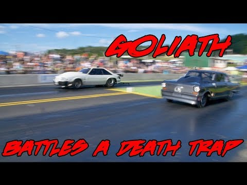 STREET  OUTLAWS DADDY DAVE GOLIATH 2.O VS CHUCK'S DEATH TRAP AT BRAINERD MOTORSPORTS PARK!