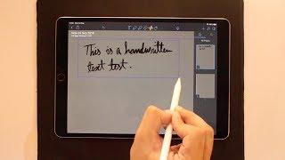Convert Handwritten Text Into Digital on iPad [Apple Pencil Tip]