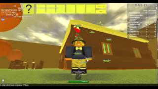 Roblox Thanksgiving Turkey Hunt 2013: How to get Golden Pilgrim hat! Thinkableman1223.