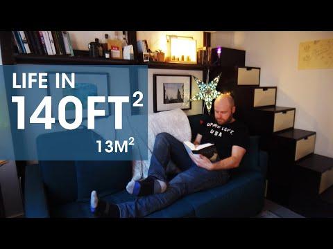 My Tiny Parisian Apartment - Life in 140 square feet (13m) - in quarantine [Paris Apartment Tour]