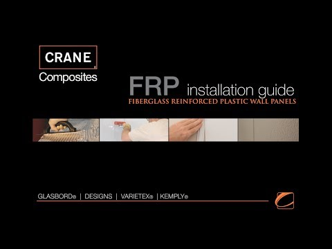 FRP Wall Panels Quick Installation Guides with Moldings