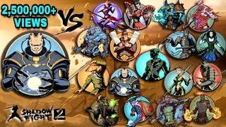 Shadow Fight 2 Titan Vs All Bosses