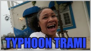 TYPHOON TRAMI IS ABOUT TO BLOW ME AWAY! WHITAKERS WAY VLOGS