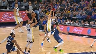Stephen Curry Almost Injured By Josh Okogie Who Slaps His Ankle! Warriors vs Timberwolves