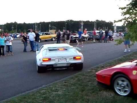 Pantera GTS And Ferrari Testarossa Leaving Bass Pro Car Show At - Bass pro car show