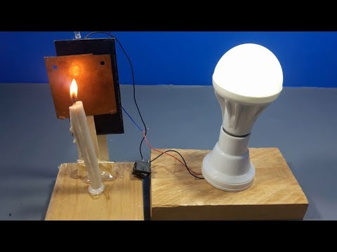 100% Free energy light bulb using solar energy | science projects 2018