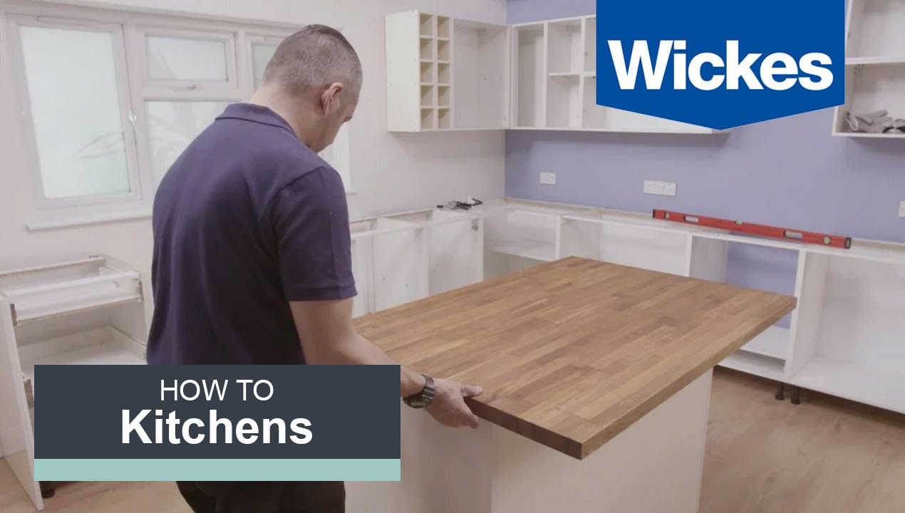 How To Build A Kitchen Island With Wickes YouTube - How to build a kitchen island with seating