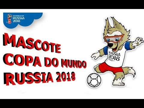 Como desenhar símbolo   mascote da copa do mundo Russia 2018  How to draw  symbol World Cup  d541b01f1d9
