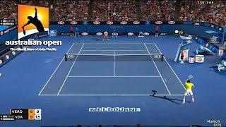 Tennis elbow 2014 Australian open AMAZING POINT - Fernando Verdasco - Rafael Nadal - GAMEPLAY