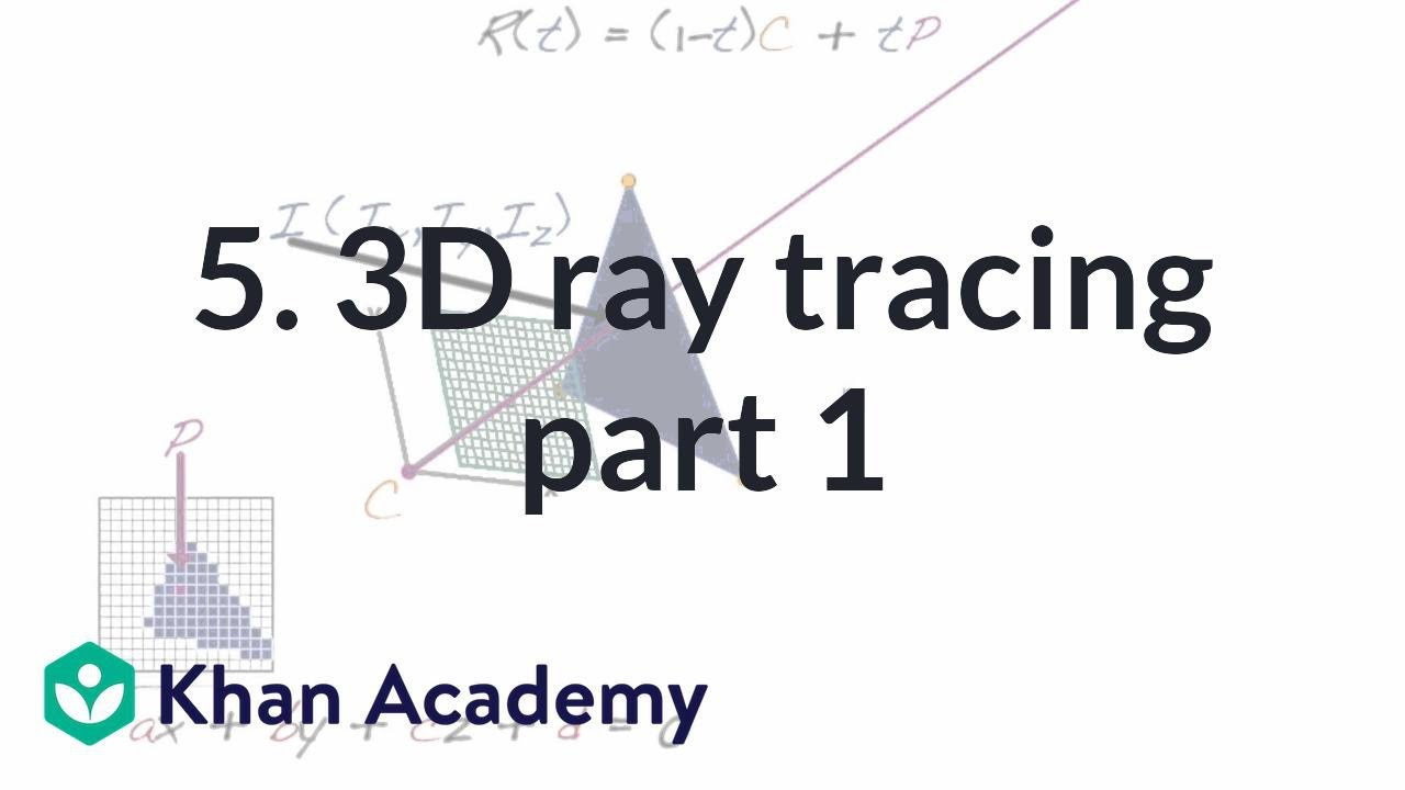 5  3D ray tracing part 1 (video) | Rendering | Khan Academy