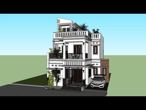 Rumah Tinggal Minimalis 2 Lantai atap full dak beton (Info Jasa Desain, 0817 9907 234)