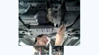 Замена фильтра АКПП Mitsubishi Lancer X