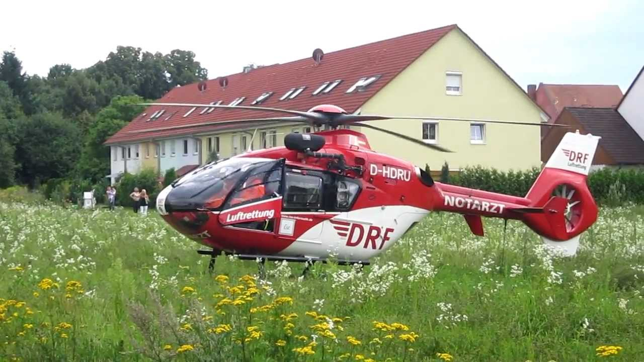 hubschrauber eurocopter ec 135 christoph 27 start youtube. Black Bedroom Furniture Sets. Home Design Ideas