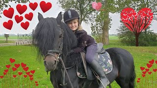 Faya her wish comes true! Riding Johnny, the black stallion!