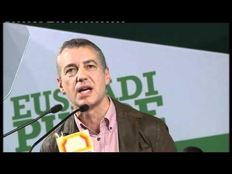 """Urkullu: """"Tenemos que demostrar que en Euskadi el bipartidismo PP-PSOE ni encaja ni cuaja"""""""