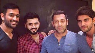 SPOTTED! Dhoni visits Salman Khan