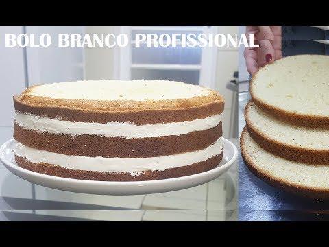 BOLO BRANCO PROFISSIONAL (para bolo de aniversário)