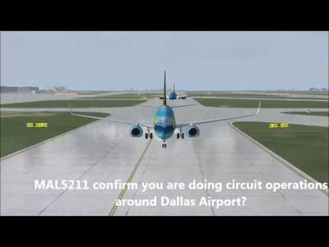 Flying the 737 at Dallas Fort-worth! [w/ ATC] + GO AROUND | FSX