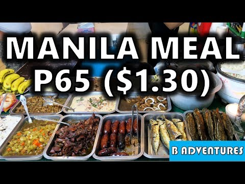 Living Cheap Makati Manila $1.30 Meal, Philippines S4, Vlog 91