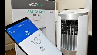 EcoAir ARTICA Portable Air Conditioner - Wi-Fi - 8000 BTU