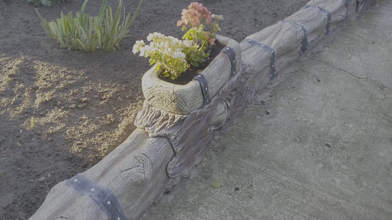 Бордюр арт бетон как рассчитать плотность бетонной смеси