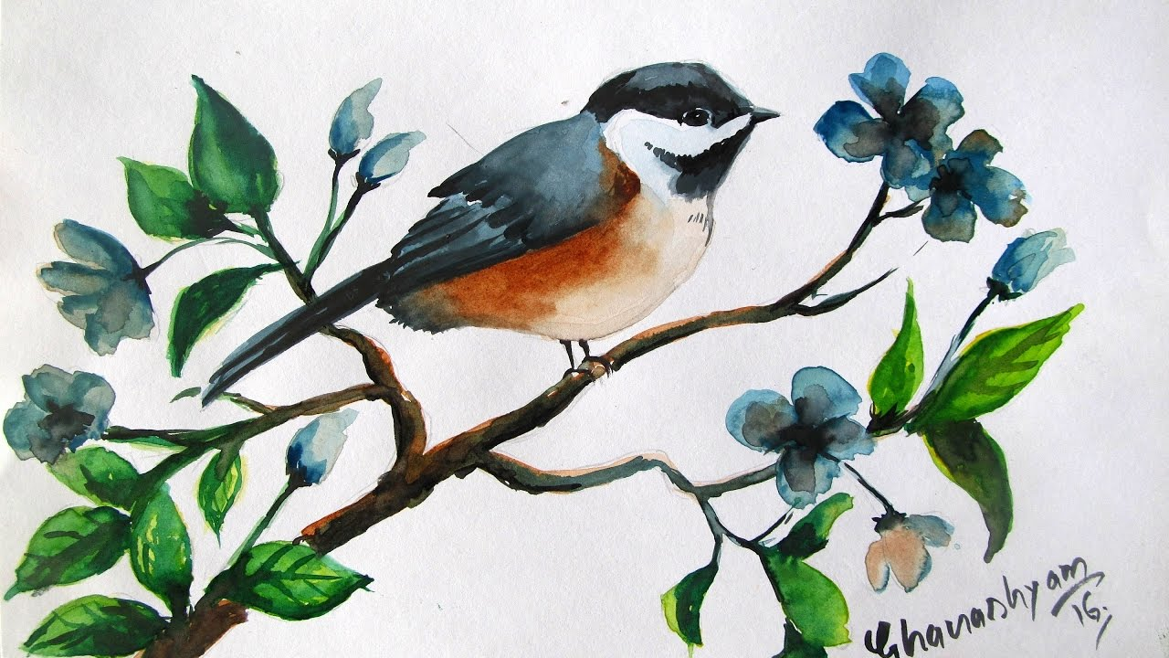 How to paint a bird in watercolor,watercolor painting for ...