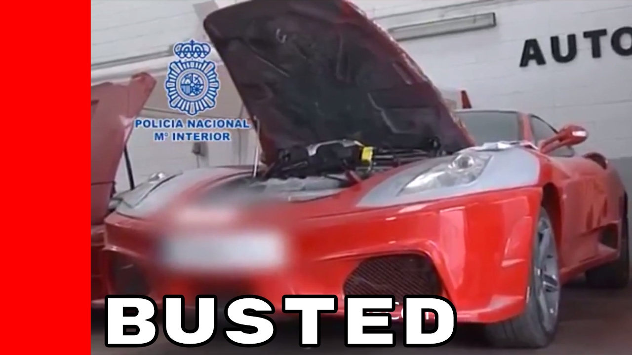 Replica Ferrari & Lamborghini Shop Busted - YouTube