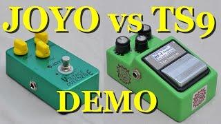 Joyo Vintage Overdrive vs Ibanez TS9 Tube Screamer w/ Analogman Silver mod