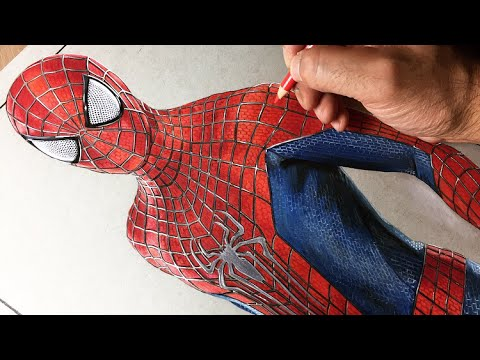 Drawing Spiderman - Timelapse | Artology