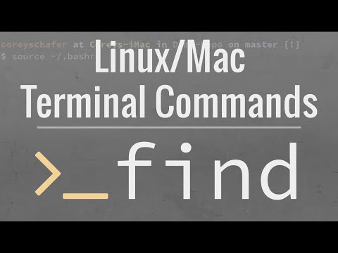 Linux/Mac Terminal: How To Use The Find Command