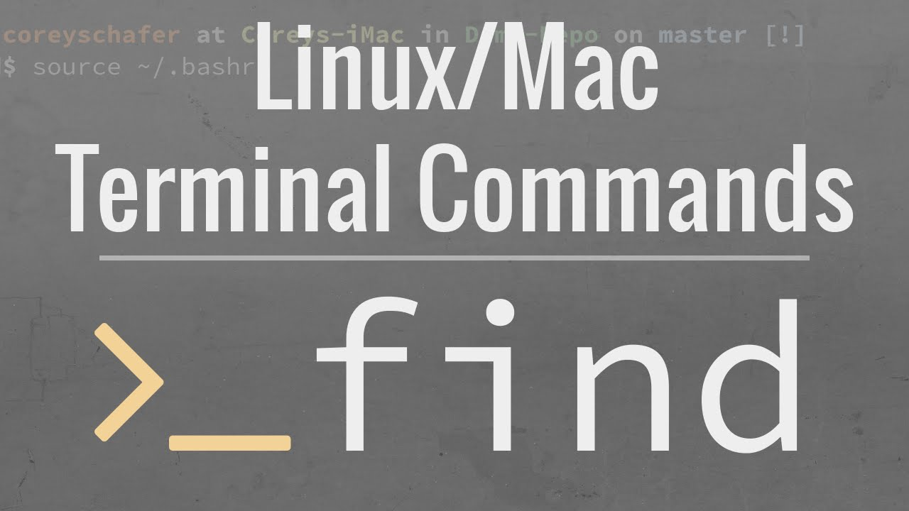 Linuxmac Terminal Tutorial How To Use The Find Command Youtube