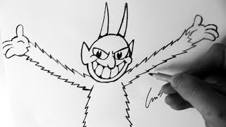 Como Desenhar The Devil Boss [Cuphead Inkwell Hell] - (How to Draw The Devil) - OLD CARTOON #3