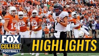 TCU Horned Frogs defeat Charlie Strong, Texas Longhorns in Austin | 2016 COLLEGE FOOTBALL HIGHLIGHTS