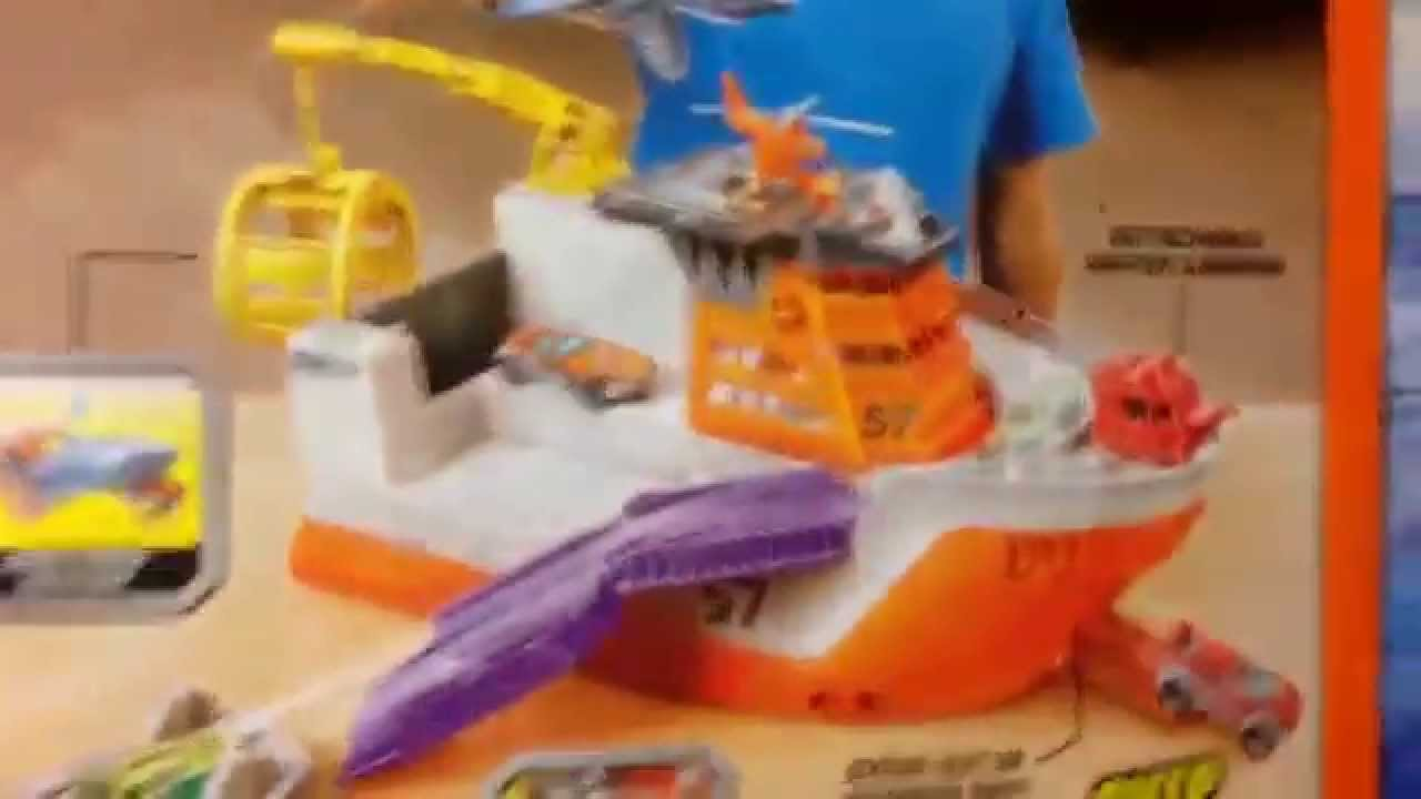 Shark Toys For Boys With Boats : Matchbox quot mission marine rescue shark ship boat playset