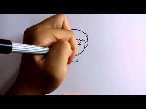วาดการ์ตูนกันเถอะ สอนวาดการ์ตูนเด็กผู้ชายเตะบอล ง่ายๆ หัดวาดตามได้เลย