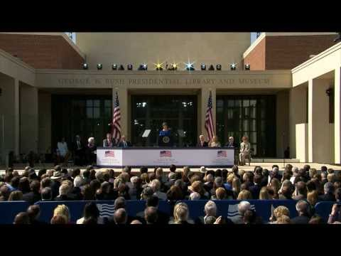 The George W. Bush Presidential Center Dedication Ceremony