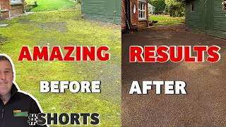 FAST Way To Remove MOSS Tarmac Driveway With AMAZING RESULTS #shorts