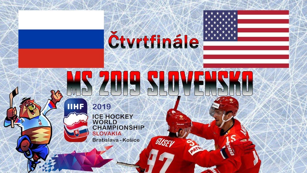 a9e291f4ddfd4 MS 2019 | Čtvrtfinále | Rusko - USA 4:3 | Highlights - YouTube