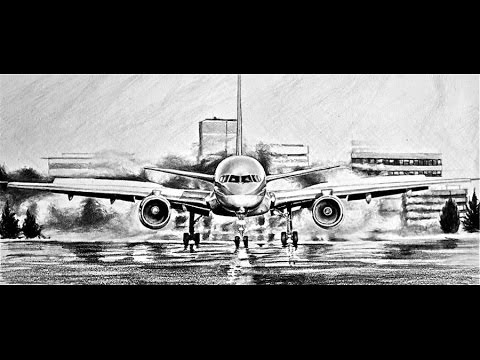 How To Draw A Realistic Plane Tutorial Youtube